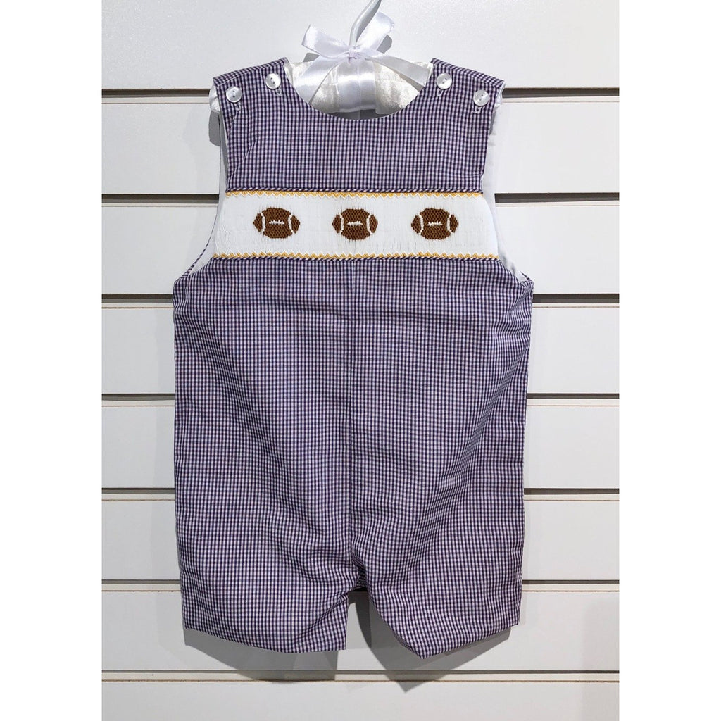 Petit Bebe - LSU Football Smocked Boys Shortall