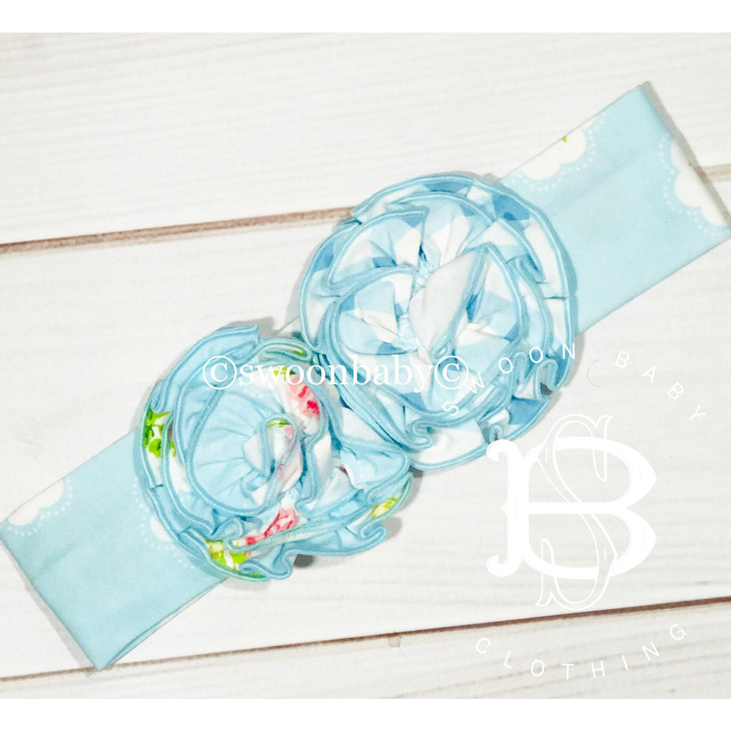 Swoon Baby Prim Rose Rosette Headband