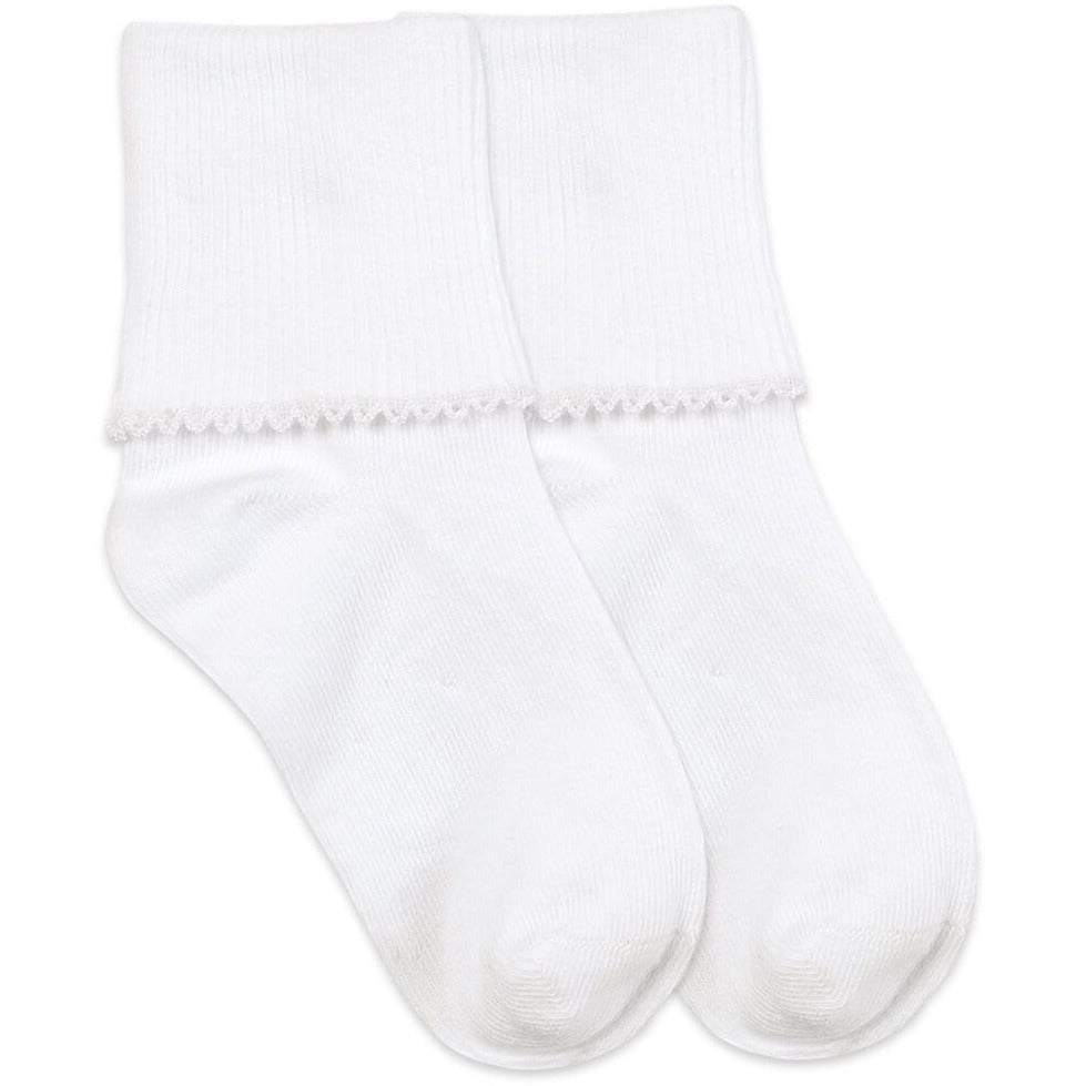 Jefferies Socks - Tatted Edge White