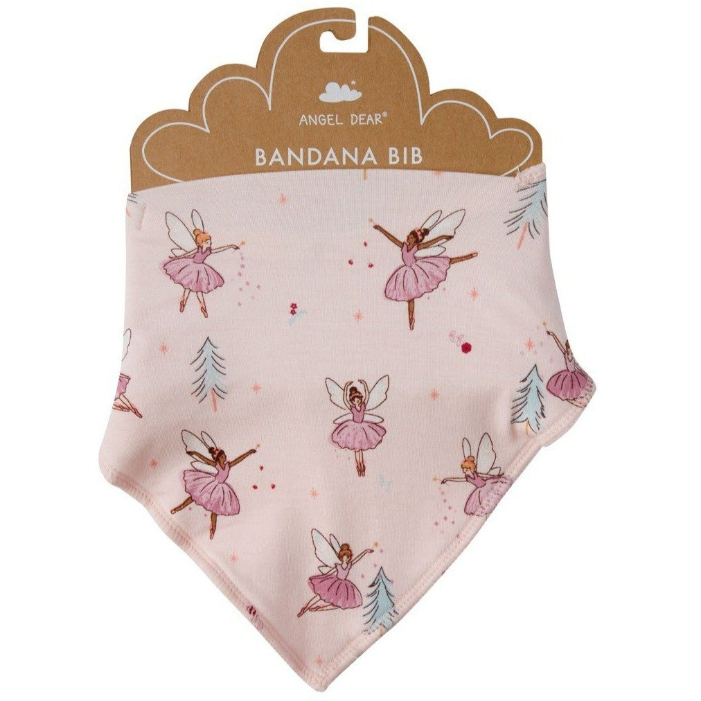 Angel Dear - Sugarplum Fairies Bandana Bib