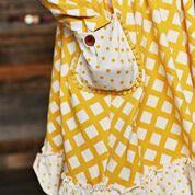 Swoon Baby - Prim Pocket Dress & Dot Leggings Set, Little Honey