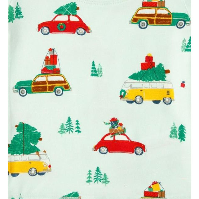 Angel Dear Trees on Cars Zipper Footie