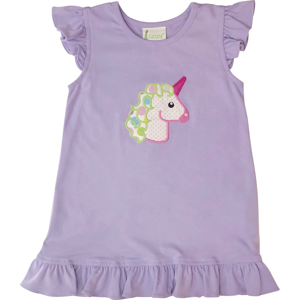 Zuccini Unicorn Applique Knit Dress