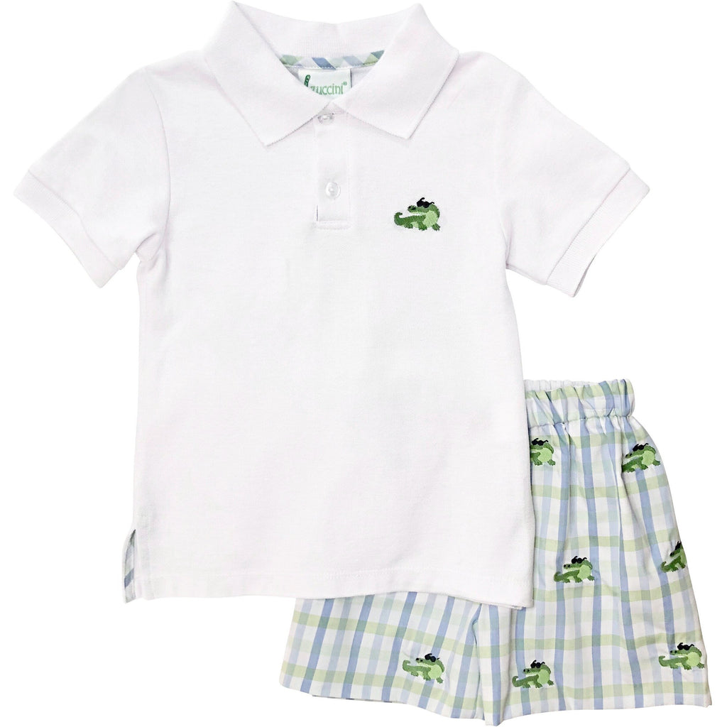 Zuccini Boys Alligator Short Set