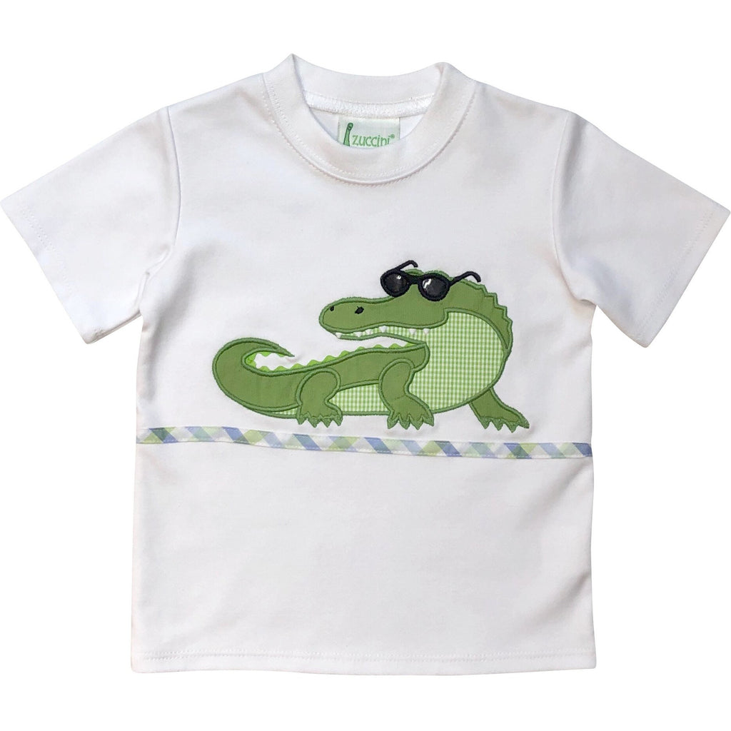 Zuccini Boys Alligator Applique Shirt - Monogram Available