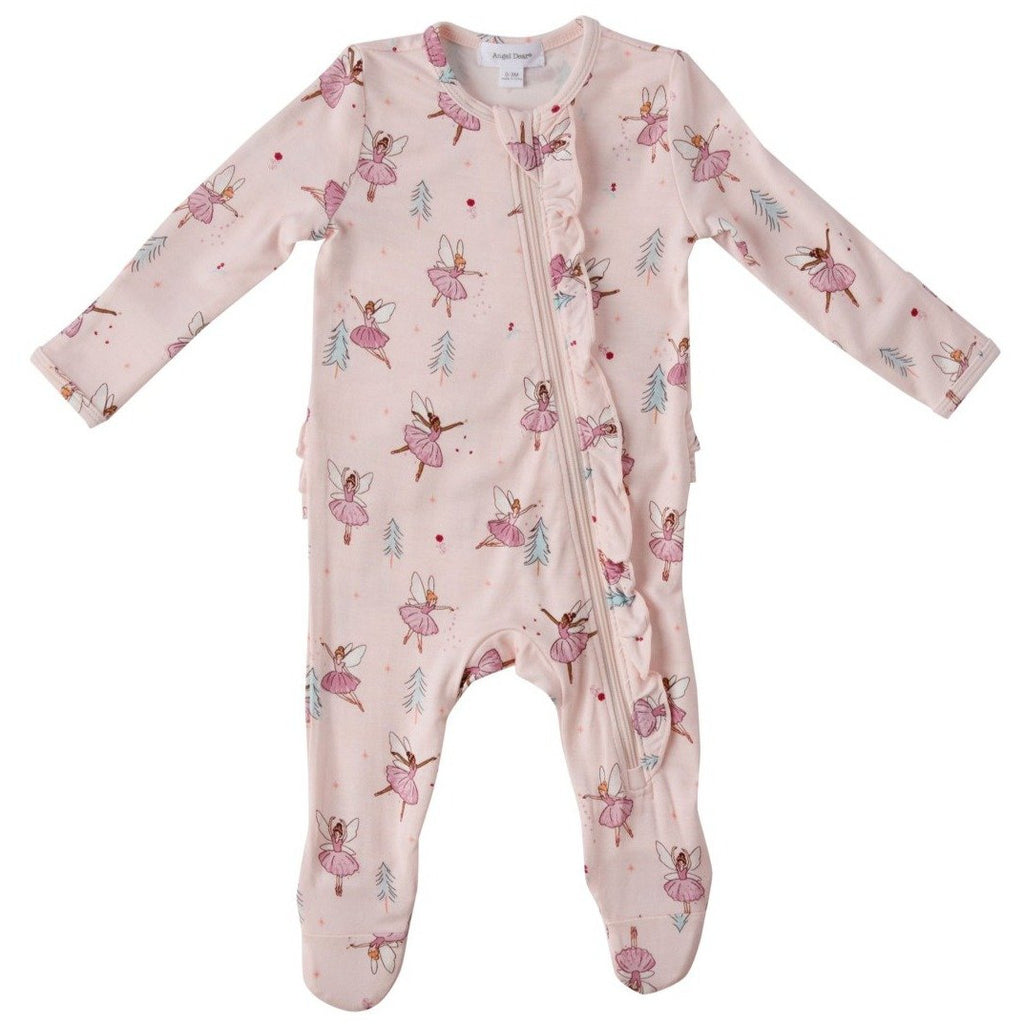 Angel Dear Sugarplum Fairies Zipper Footie