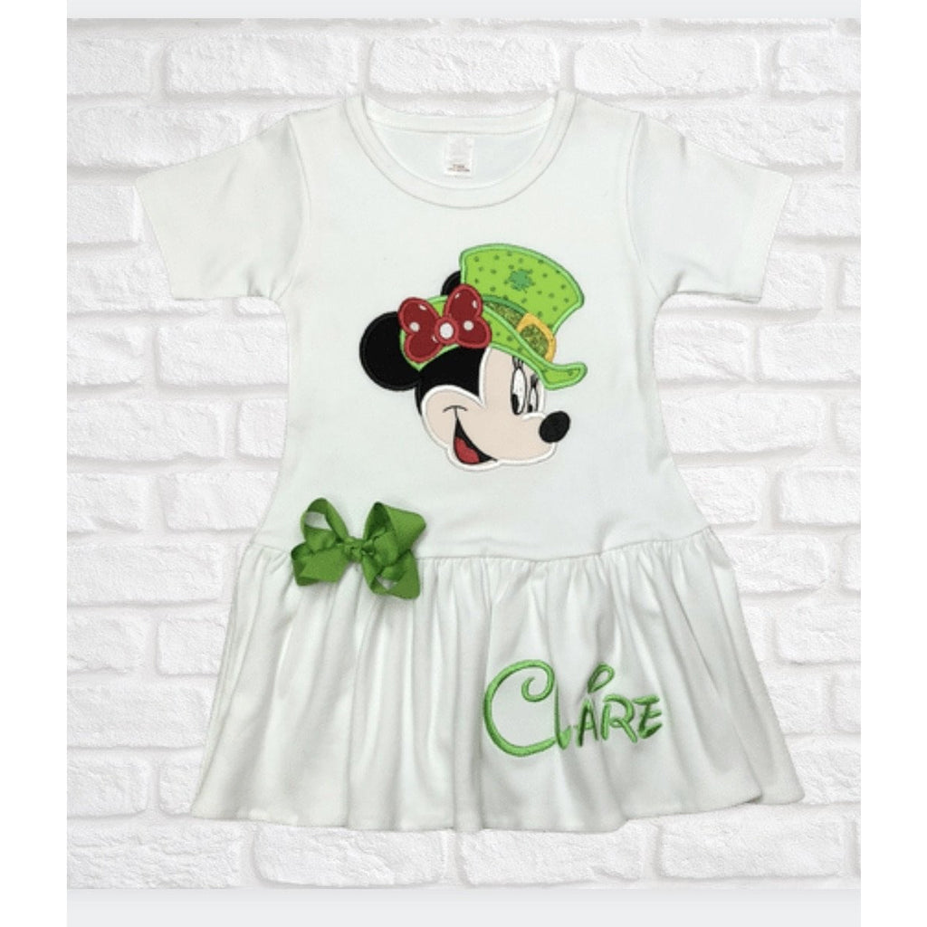 St. Patrick's Day Minnie Applique Girl Dress