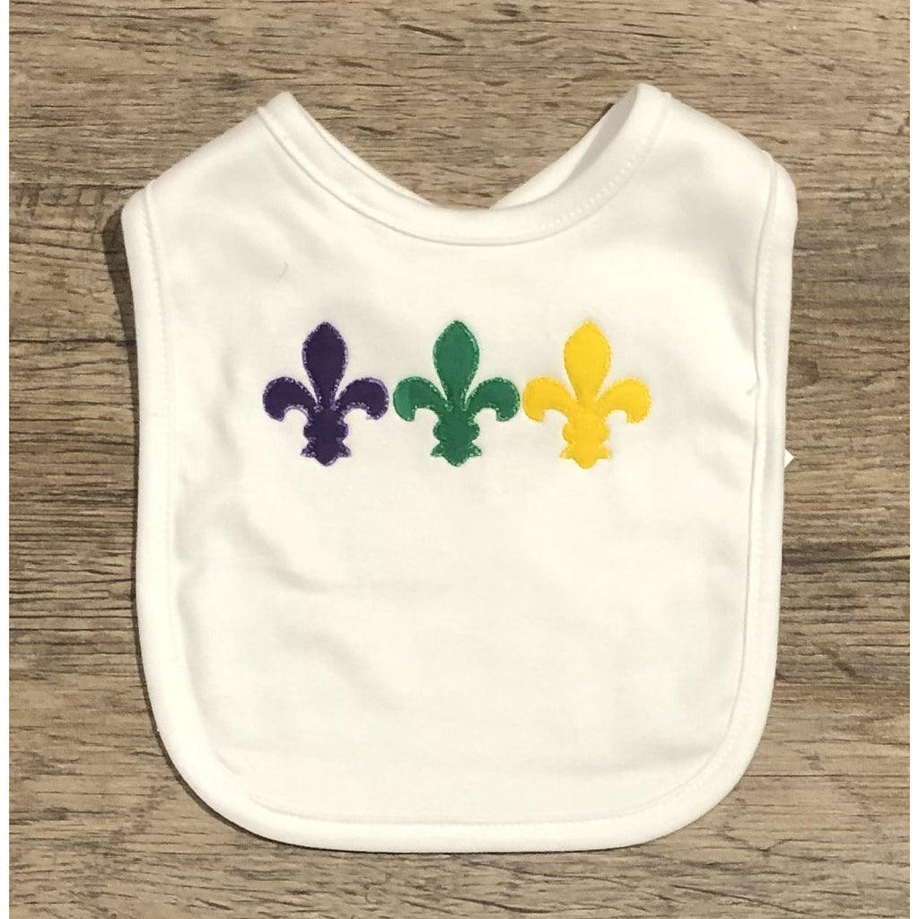 A for Avery - Mardi Gras FDL Bib