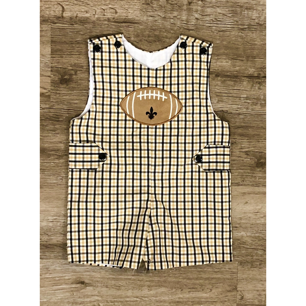 Lulu Bebe - Boys Saints Plaid Shortall