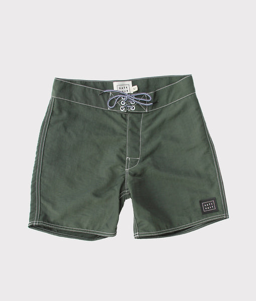 50's Surf Trunk- English Green