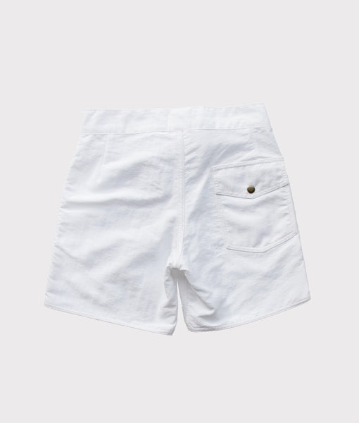 50's Surf Trunk- White- SALE