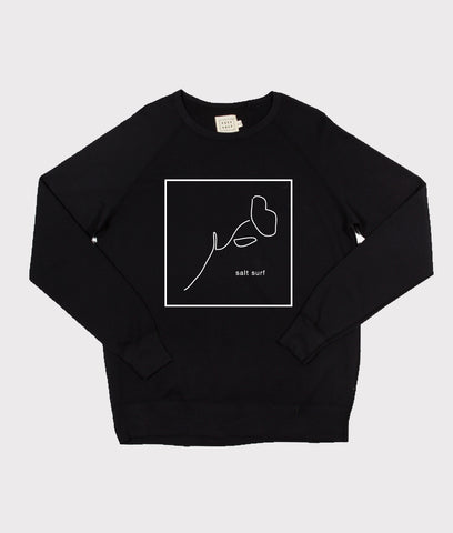 California Poppy Sweatshirt- Black
