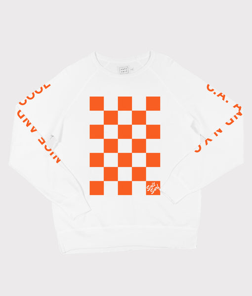 Checkerboard Sweatshirt- SALE