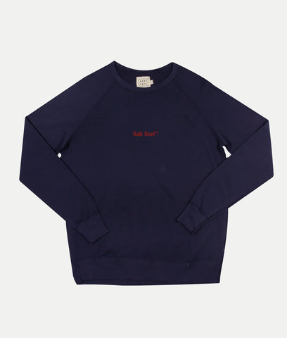 Embroidered Sweatshirt- Navy/Red