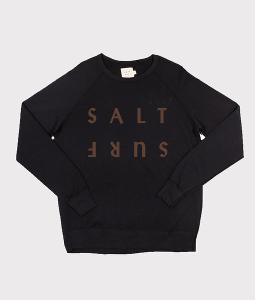 Half Reverse Sweatshirt- Black/Brown
