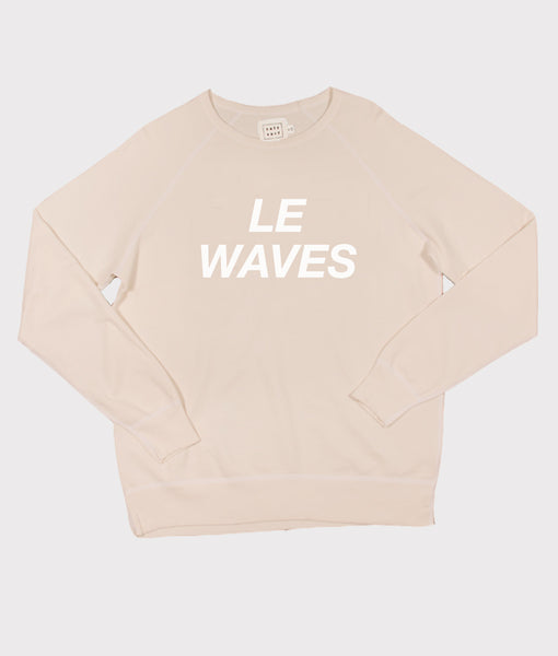 Le Waves Sweatshirt- Nude