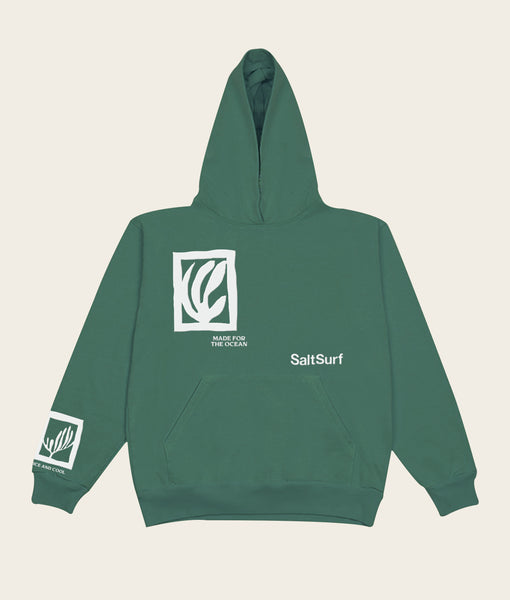 Made for the Ocean Hoodie- Forest Green