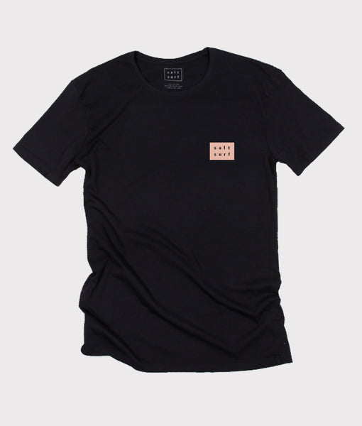 Mini Logo Tee- Black/Pink