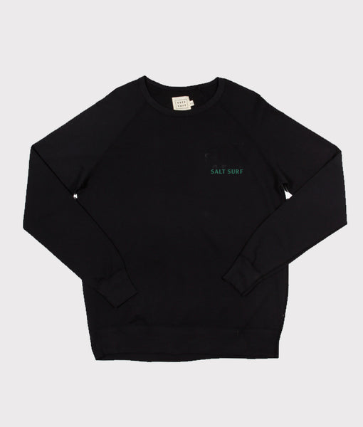 Mini SALT SURF Sweatshirt- Black/Forest Green- SALE