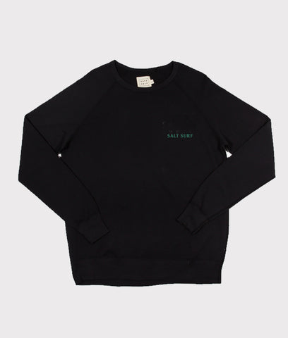 Mini SALT SURF Sweatshirt- Black/Forest Green
