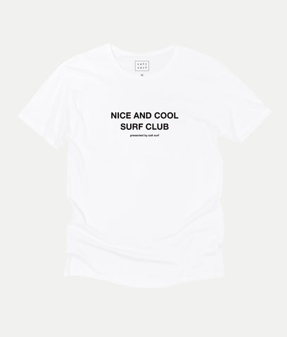 Nice and Cool Surf Club Tee- White