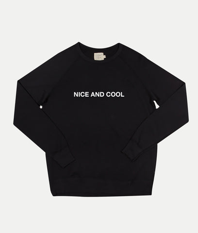 Nice and Cool Sweatshirt- Black