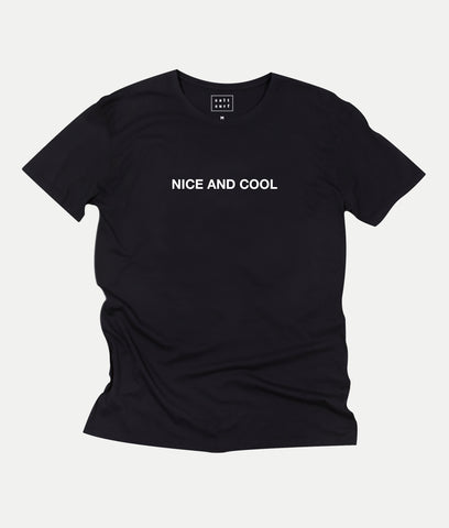 Nice and Cool Tee- Black