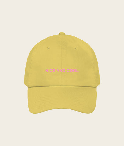 Nice and Cool Cap- Mustard/Pink