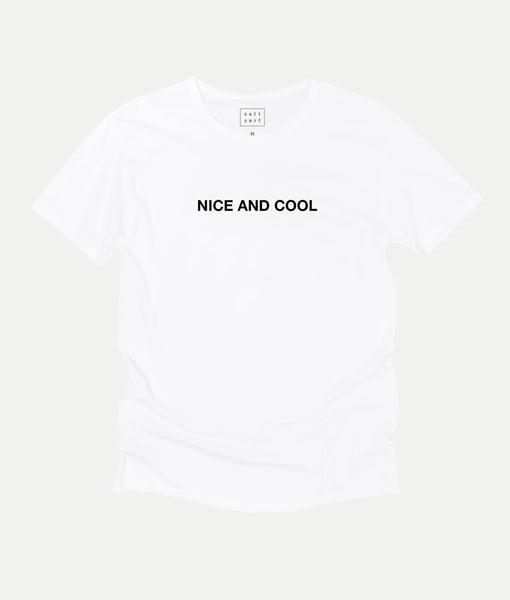 Nice and Cool Tee- White (original fit)
