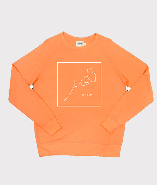 California Poppy Sweatshirt- Orange