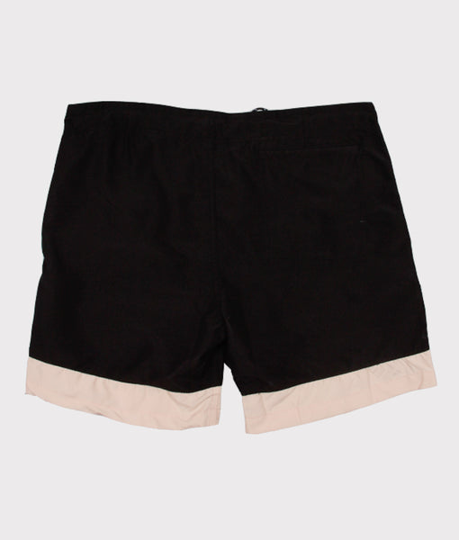 Classic Surf Trunk- Black/Pale Pink- SALE