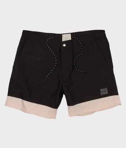 Classic Surf Trunk- Black/Pale Pink