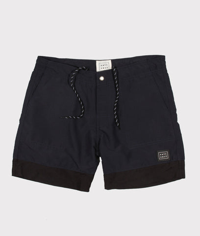 Classic Surf Trunk- Navy Blue/Black