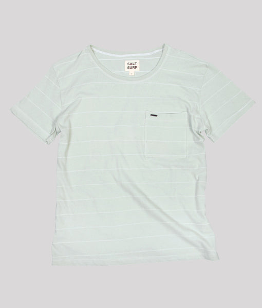 Stripe Tee, Mint- SALE