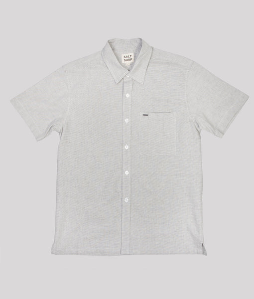Short Sleeve Button Up Grey- SALE