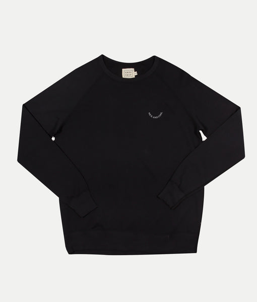 Smiley Face Sweatshirt- Black