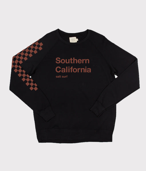 Southern California Sweatshirt- Black/Rust