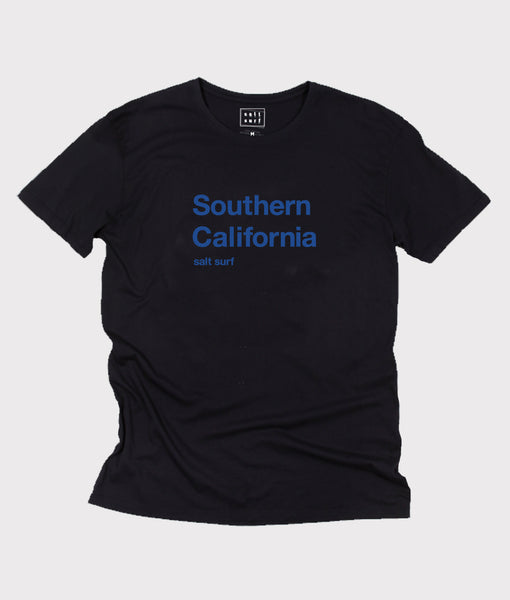 Southern California Tee- Black/Blue