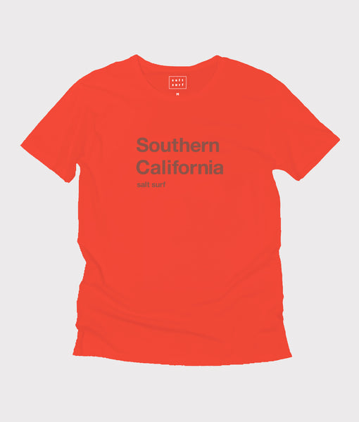 Southern California Tee- Bright Red/Rust- SALE