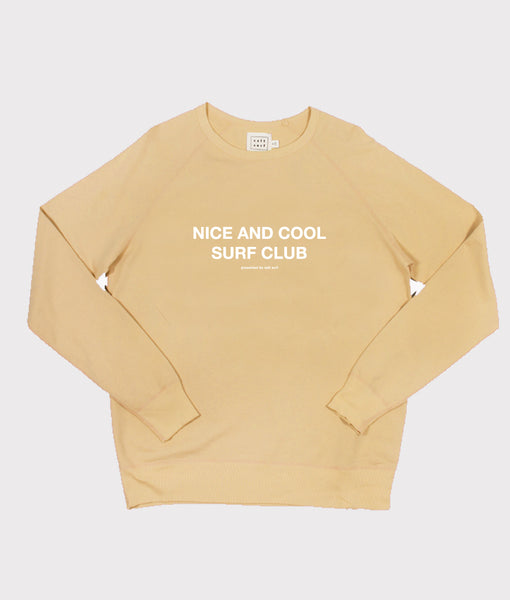 Nice and Cool Surf Club Sweatshirt- Mustard- SALE
