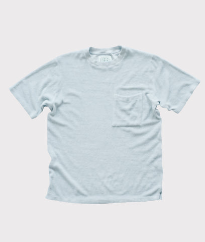 Towel Tee- Pale Sky Blue