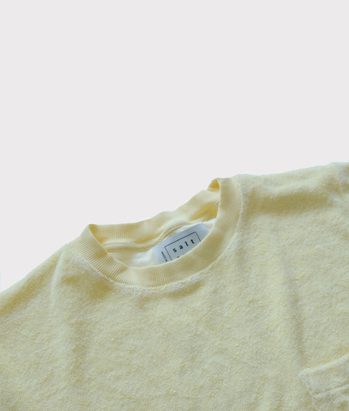 Towel Tee- Lemon Yellow