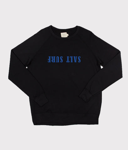Upside Down Sweatshirt- Black/Blue