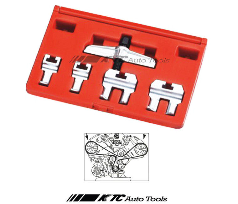 VW AUDI Camshaft Drive Belt Pulley Puller Remover Tool | KTC Auto Tools