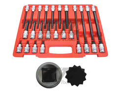 "26 Pcs 1/2"" Drive Multi-Spline Bit Socket Set"