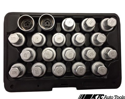 BMW Wheel Lock Screw Socket Set (20 Pieces)