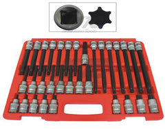 "32 PC 1/2"" SQ.DRIVE RIBE BIT SOCKET SET"