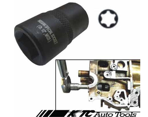 "NISSAN Special 6 Points Star Impact Socket 1/2"" Drive M12S"