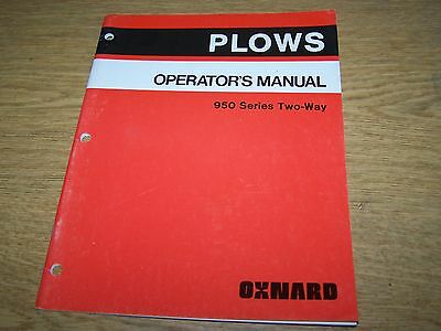 Allis Chalmers  Plows Operators Manual for a 950 Series Two-Way