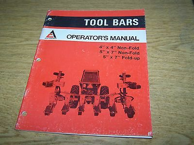 "Allis Chalmers Tool Bars Operators Manual for 4""x4"" 5""x7"" Non-Fold 5""x7"" Fold"